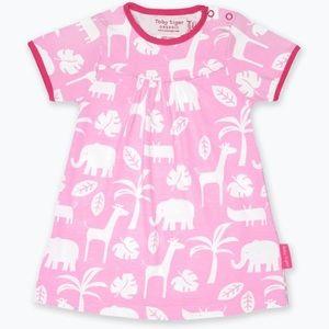 Other - Organic Cotton Pink Jungle Print Dress 3-4 years